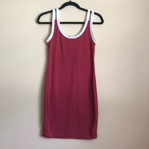 NEW LOOK Striped Red and White Dress Size Med